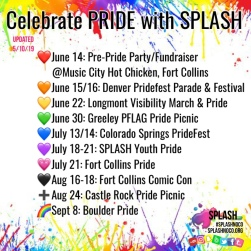 Permission slips required to attend any Pridefest with SPLASH. Email for info.